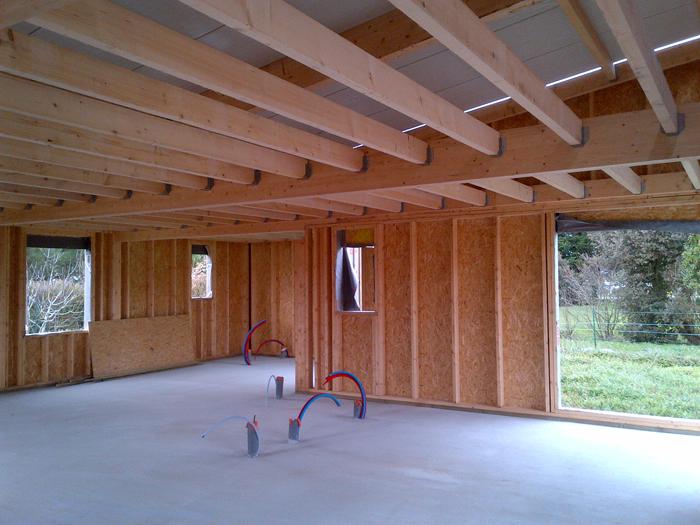 Constructionétape parétape d'une maisonà ossature bois en Vendée # Maison En Bois Vendée